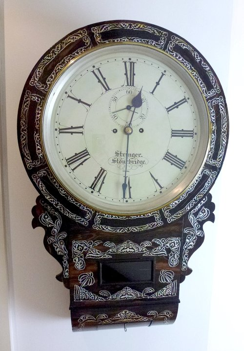 Antique Wall Clock by Stringer of stourbridge