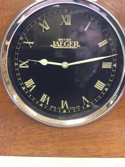 "Bentley Dash clock by ""British Jaeger"" c1927"