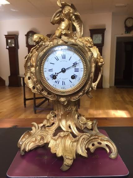 C 1850 French Ormolu cased mantel clock