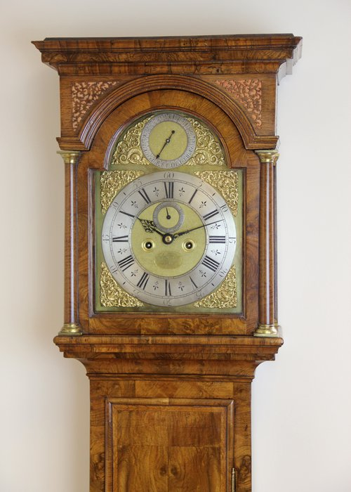 London Walnut Longcase Clock.