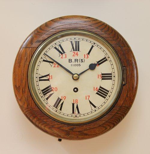 Rare Railway Dial Clock.