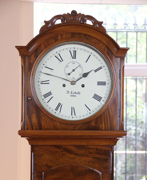 Small Irish  Mahogany  Longcase Clock