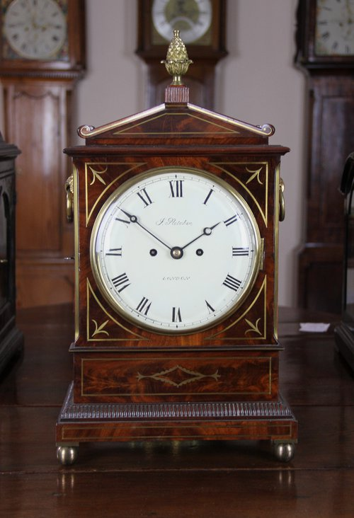 George 111 Mahogany Mantle Clock