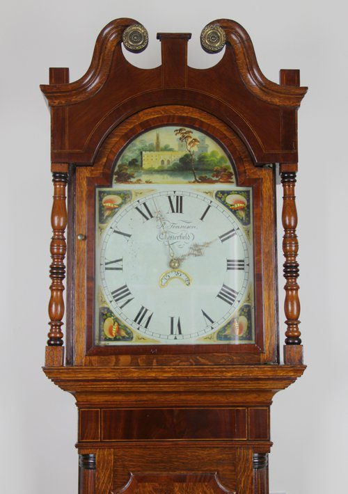 Derbyshire Antique Longcase Clock c1830.