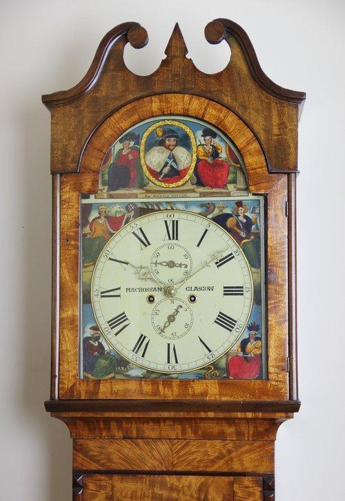 c1845 Scottish 8 day Antique Longcase Clock
