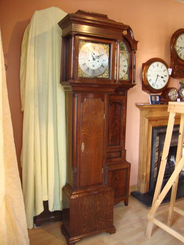 English Oak Longcase Clock.