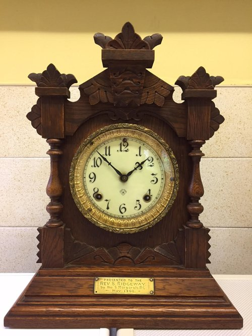 "Mantle Shelf Clock by "" The Ansonia Clock Co"""