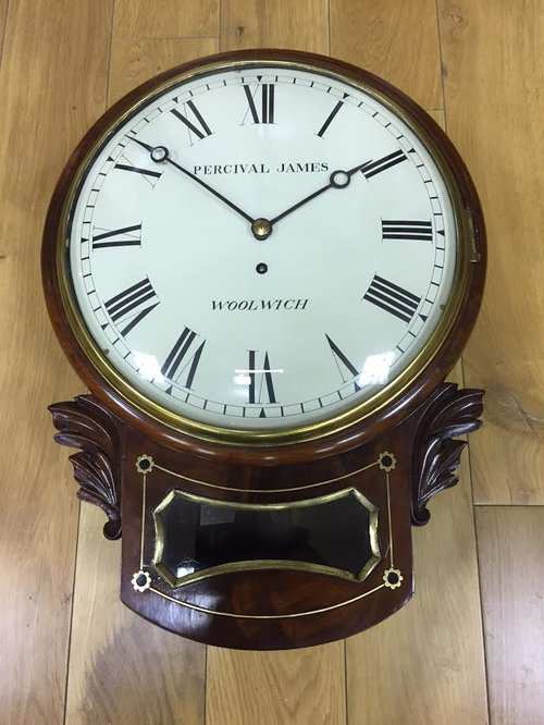 c1835 Mahogany drop Dial fusee wall clock