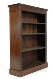 Small Mahogany Open Bookcase