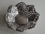 Pierced Silver Petal Shaped Bo