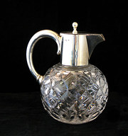 Antique silver topped claret j