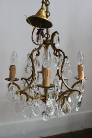 French brass chandelier