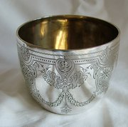 Antique English silver tumbler