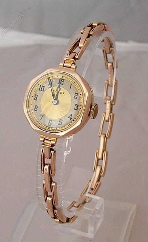 antiques atlas 9ct gold rolex wrist 1920s