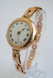 WW1 9ct gold ladies Rolex watc