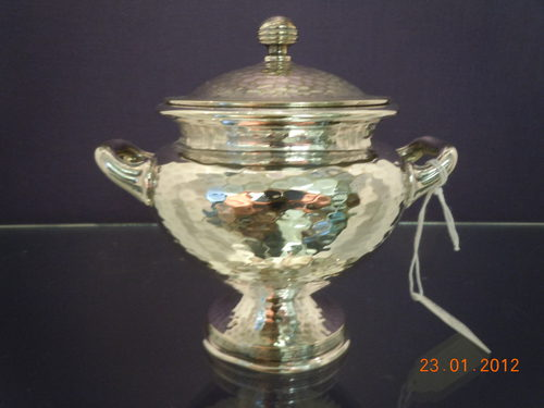 Planished Silver Plate Arts & Crafts Sucrier/Bowl