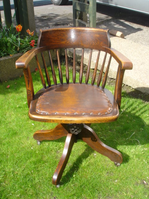 Office chairs office swivel chairs for Antique desk chair