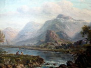 Oil Scottish Lochside View Art