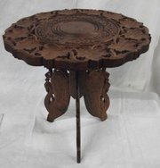 indian hardwood lampside table