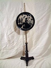 Ebonised Victorian Fire Screen