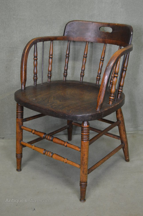 Victorian Captains Chair Office Chair Antiques Atlas