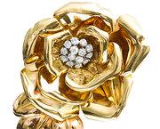 Diamond Flower Brooch c1950