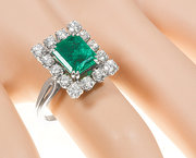 Rectangular Emerald and Diamon