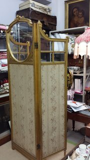 Giltwood screen
