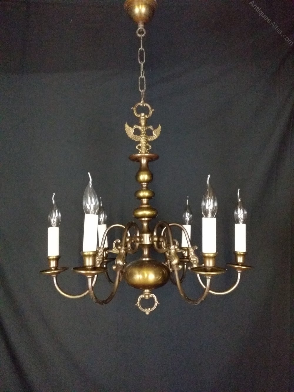 Flemish chandeliers flemish chandeliers this is a delightful smaller size six light flemish chandelier this chandelier is brass but has over the years built up a lovely patina giving it a bronze arubaitofo Gallery