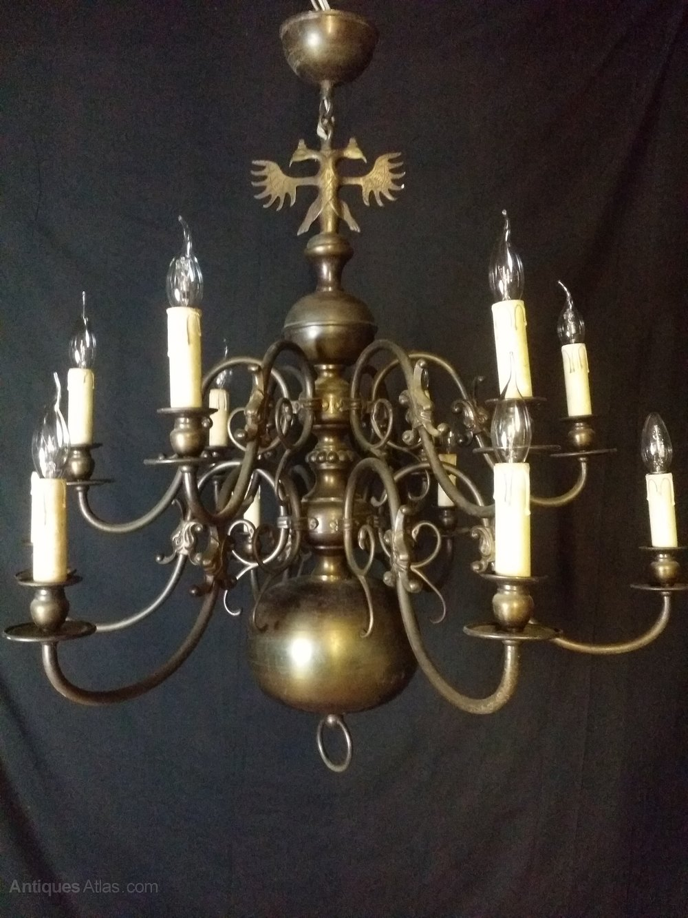 Flemish chandeliers flemish chandeliers this is a excellent very large 12 loight two tier flemish chandelier it has aged well over the years and has a nice patina the work we intend to do is to arubaitofo Gallery