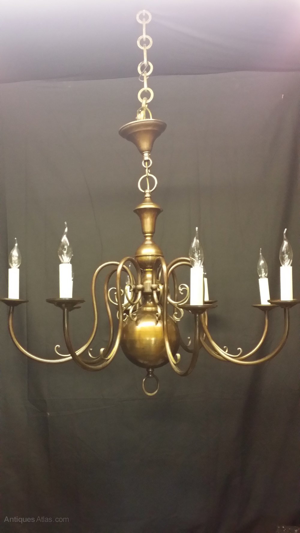Brass flemish chandeliers flemish chandeliers this is a large impressive brass eight light flemish chandelier this chandelier has been rewired and has been fitted with new bulb sockets and brackets arubaitofo Images