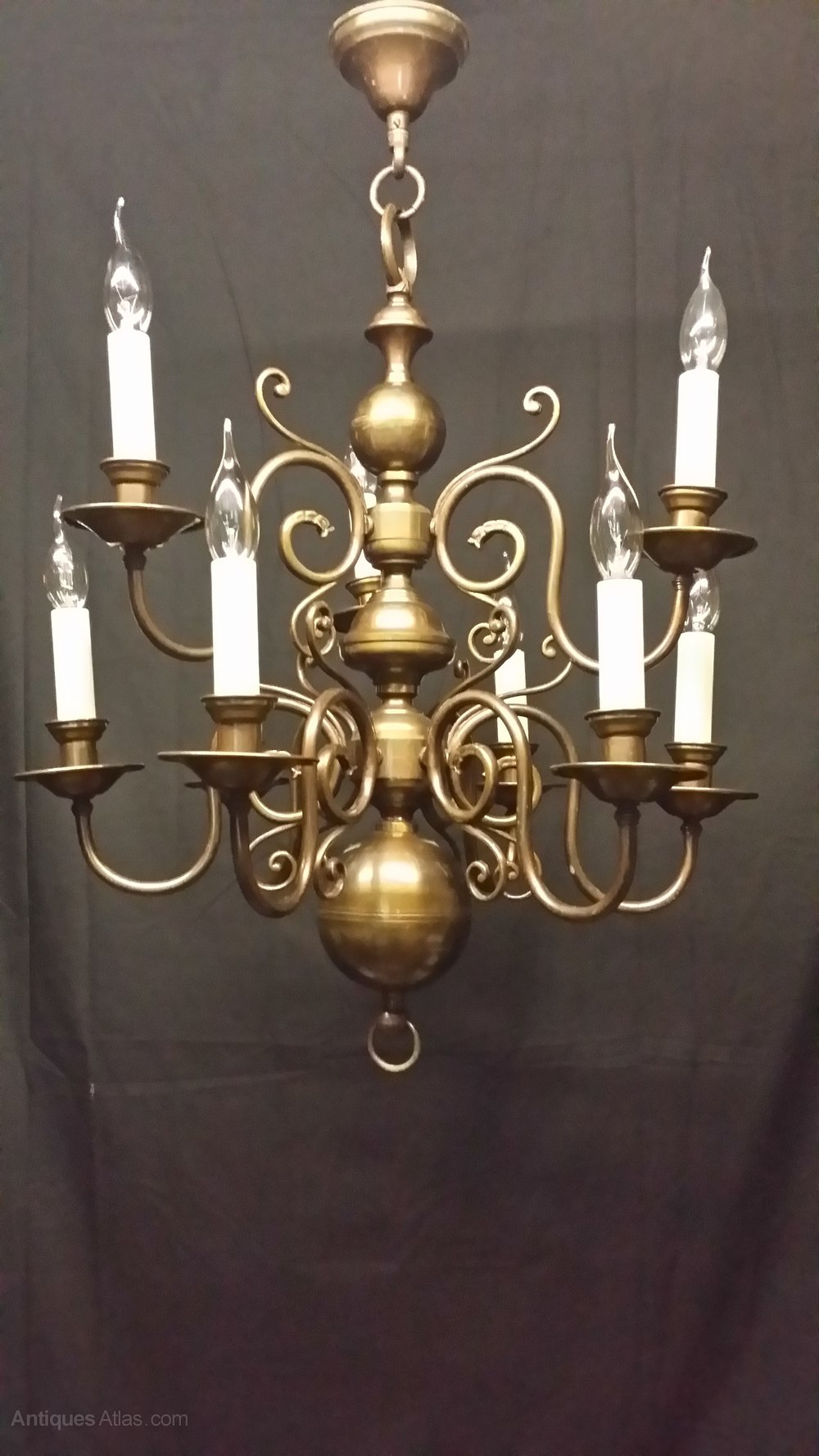 Two tier chandeliers flemish chandeliers this is a good quality 9 light two tier flemish chandelier this chandelier is brass but over the years has built up a good patination and colour giving it arubaitofo Gallery