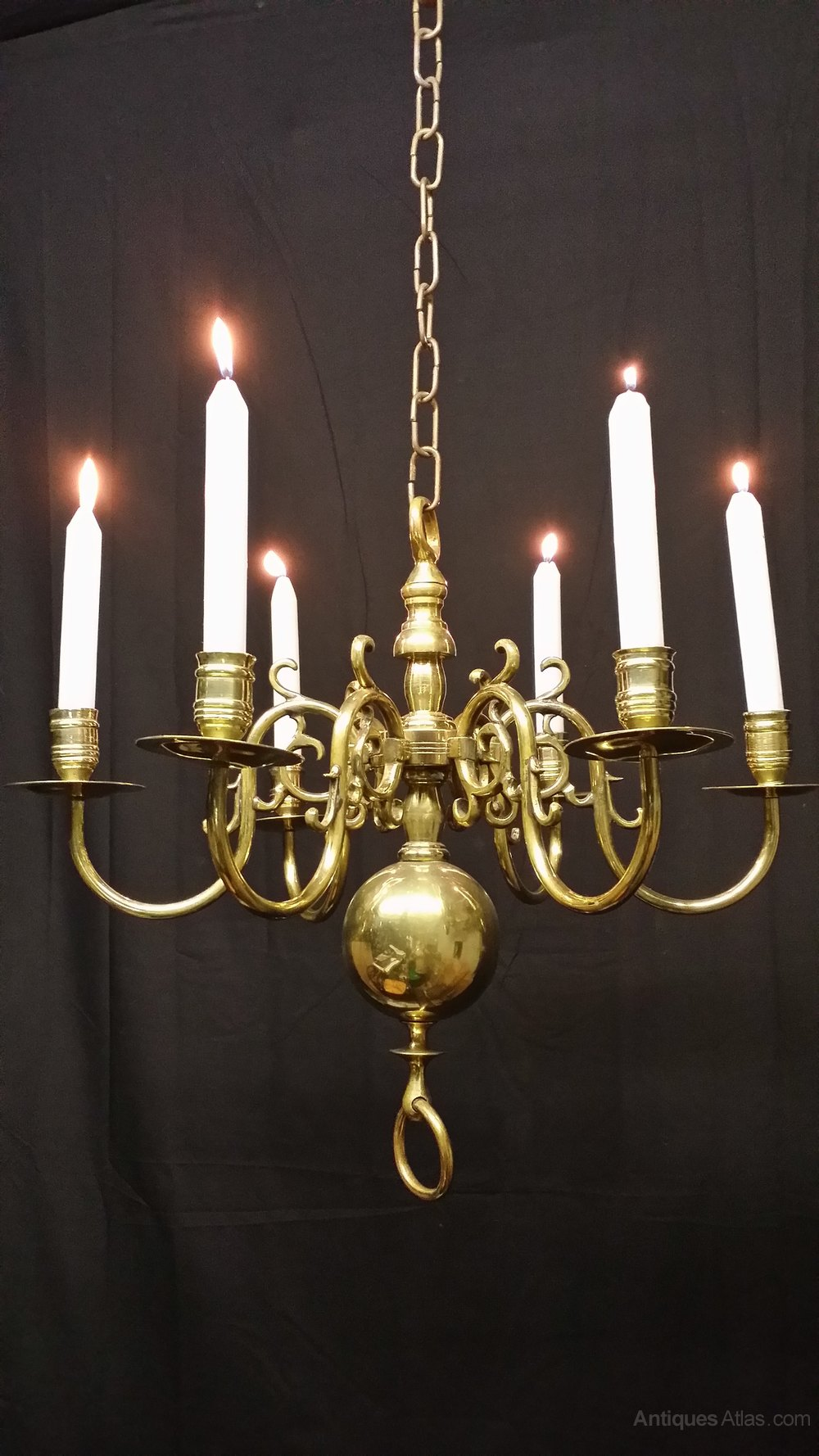Brass flemish chandeliers flemish chandeliers enjoy your dinner partys with this excellent victorian six candle light flemish chandelier this chandelier is very good quality and is in excellent arubaitofo Gallery
