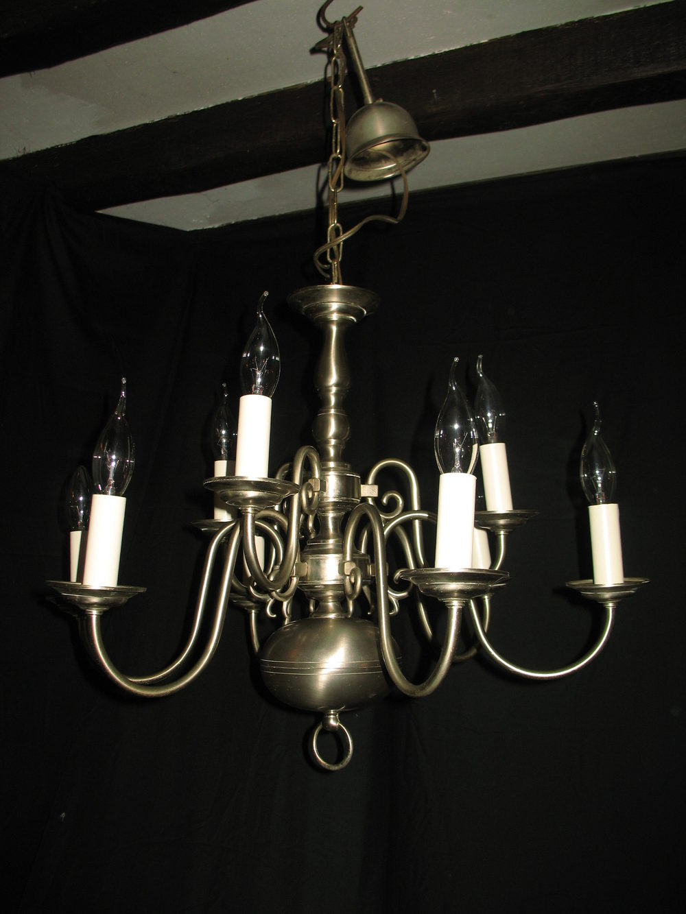 Two tier chandeliers flemish chandeliers a pleasing smaller size two tier 9 light nickle plated silver flemish chandelier this fitting will be rewired with new fittings and will be pat arubaitofo Gallery