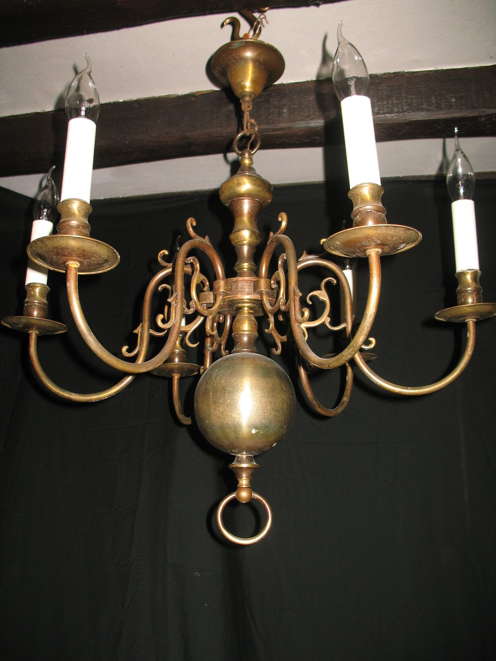 Brass flemish chandeliers flemish chandeliers a good six branch smaller size flemish chandelier this fitting is brass and has built up a good colour over the years but can be repolished if required arubaitofo Gallery