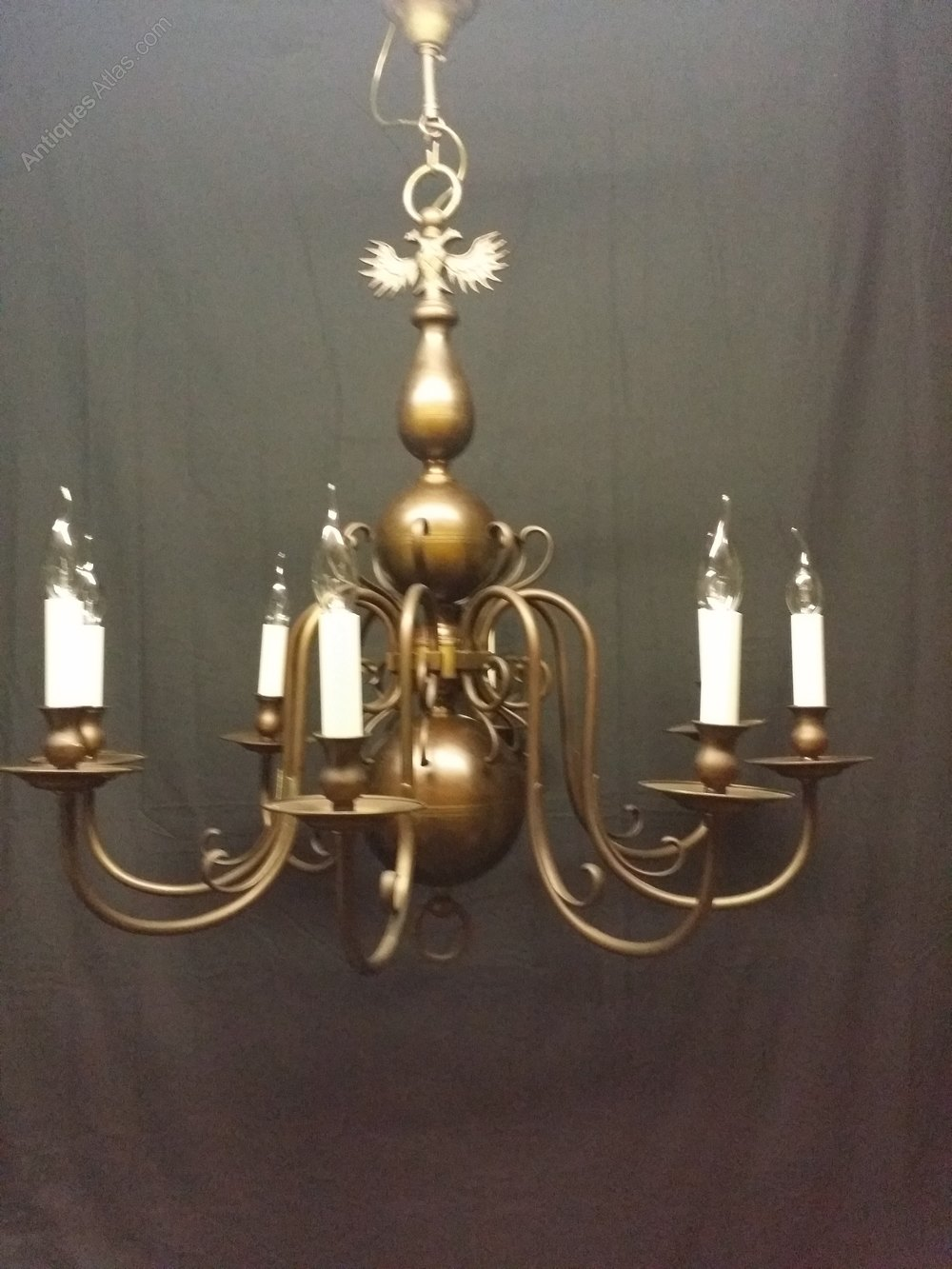 Brass flemish chandeliers flemish chandeliers this is a vwey large eight light brass flemish chandelier this chandelier is in excellent condition and although brass has a good bronze colour and patina arubaitofo Gallery