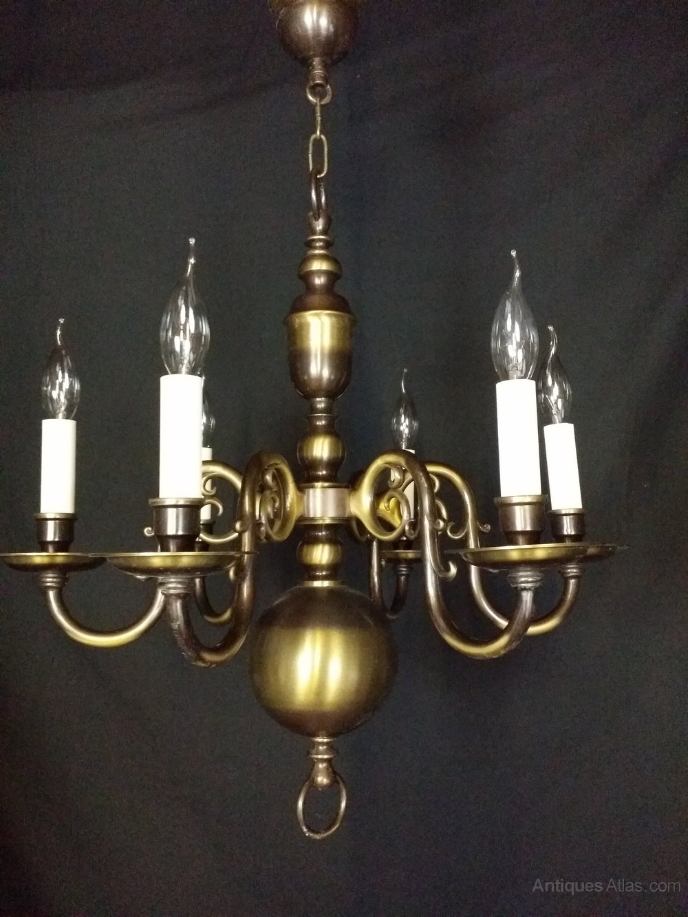 Brass flemish chandeliers flemish chandeliers this is a excellent quality six light brass flemish chandelier although brass this chandelier has a attractive bronze and brass finish to it being brass arubaitofo Gallery