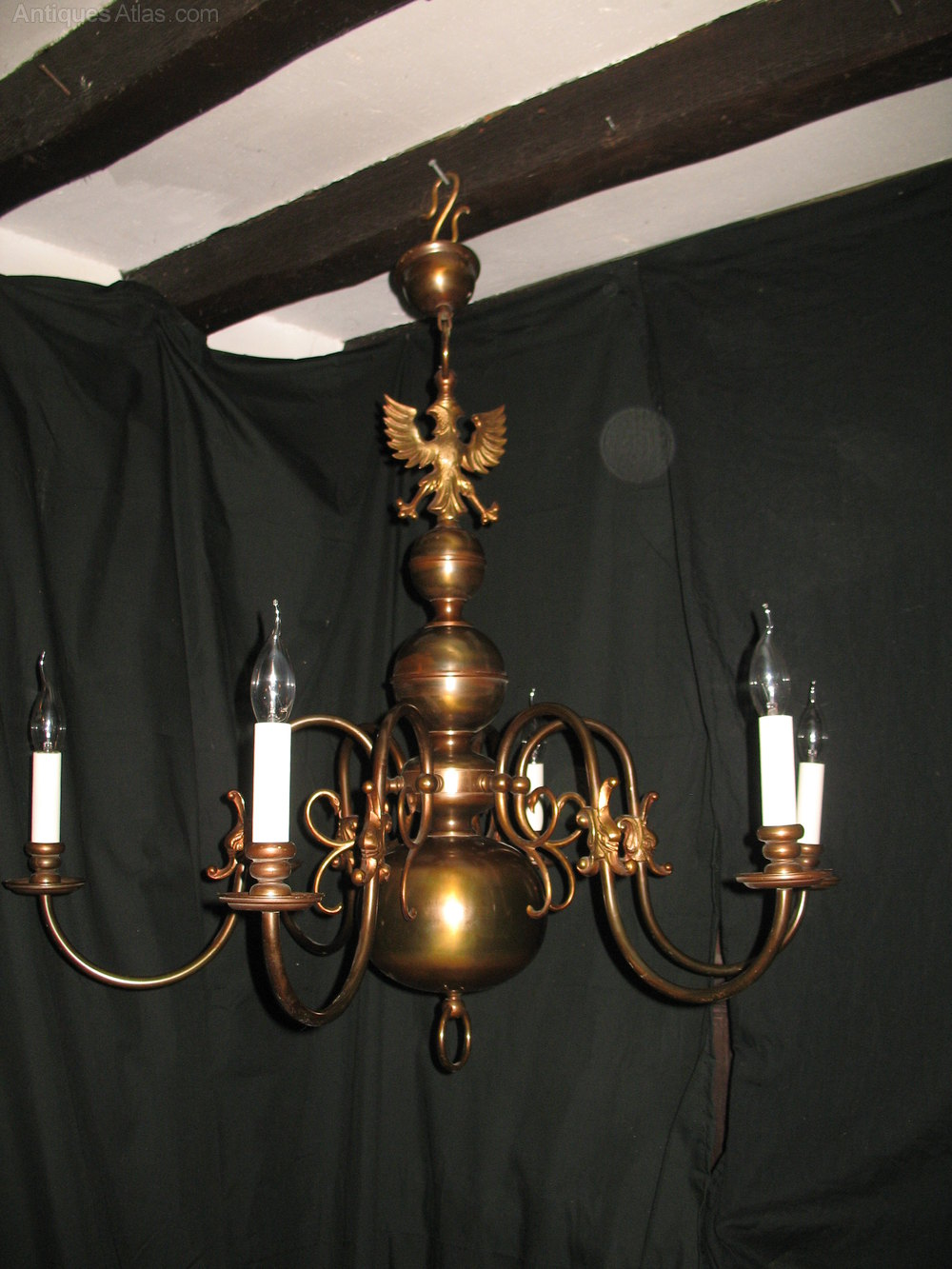 Flemish chandeliers flemish chandeliers a larger size pair of brass flemish chandeliers this pair of chandeliers consist of either two eight light fittings or one eight light and one six light arubaitofo Gallery
