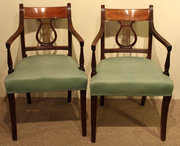 A Pair of Regency Mahogany Lyr