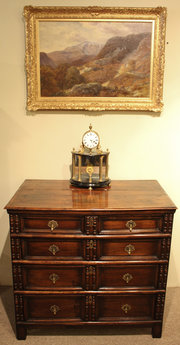Charles II Walnut Chest of Dra