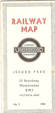 London Underground Map dated 1