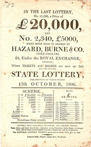 State Lottery Handbill   1806