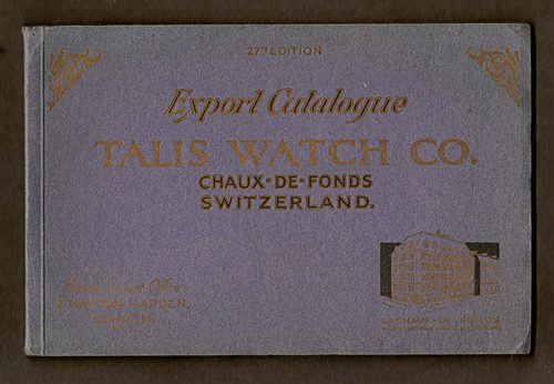 Talis Watch Co., Export Catalogue of c.1930s