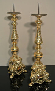Large Pair of Victorian Brass