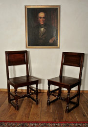 Pair of Charles II Oak Chairs