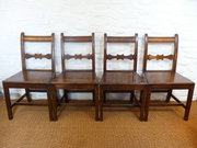 Set of Four 18thC Welsh Oak Di