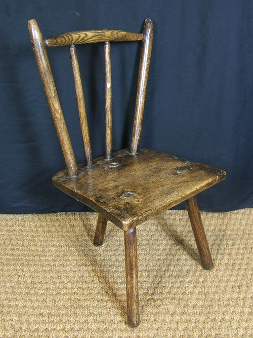 A nice three-legged version of ash and sycamore, 18th century. Courtesy  Welsh Vernacular Furniture. - Toolerable: The Great Welsh Stick Chair Extravaganza In Denmark