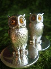 Sampson Mordan  Co pair of Owl