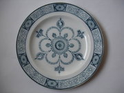 Wedgwood Blue  White Plate