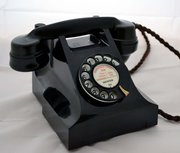 Black 300 series AEP Telephone